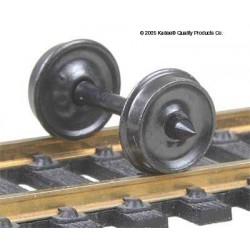 H0 dvojkolí pro nákladní vozy, průměr předlohy 838 mm, hladký disk kol, 12 kusů