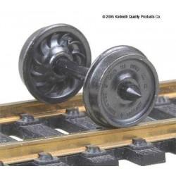 H0 dvojkolí pro osobní vozy, průměr předlohy 914 mm, žebrovaná vnitřní plocha disku kol, 12 kusů