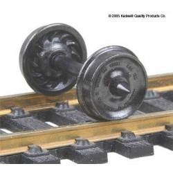 H0 dvojkolí pro nákladní vozy, průměr předlohy 838 mm, žebrovaná vnitřní plocha disku kol, 12 kusů