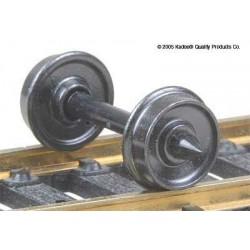 H0 dvojkolí pro nákladní vozy, průměr předlohy 711 mm, hladký disk kol, 12 kusů