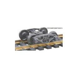 H0 nákladní podvozek typu Bettendorf, celokovový, samostředící, 1 pár