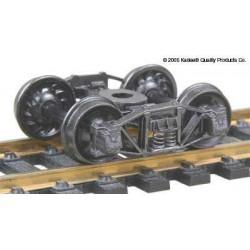 H0 nákladní podvozek typu Arch Bar, celokovový, samostředící, 1 pár