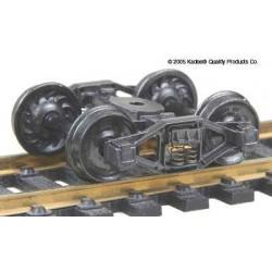H0 nákladní podvozek typu Bettendorf T-Section, celokovový, samostředící, 1 pár