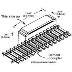 H0 rozpojovač určený k umístění mezi kolejnice, optimalizovaný pro kolejnice výšky 2.55 mm, 2 kusy