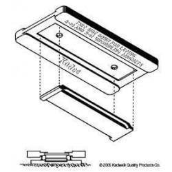 Přípravek pro přesnou montáž (lepení) rozpojovačů určených k umístění mezi kolejnice (Kadee 312, 321 a 322)