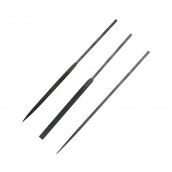 Jehlové pilníky výběrové, délka cca 160 mm, sada 3 ks (plochý, úsečový a kulatý)