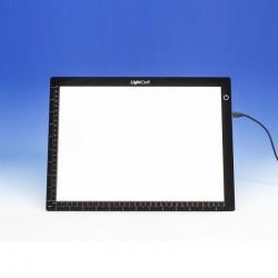 Prosvětlovací stůl A4 (pracovní plocha 230x320 mm), LED s regulací osvětlení, napájení síťové nebo USB