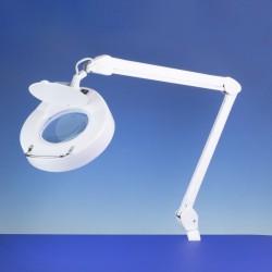 Stolní svítidlo s kruhovým zvětšovacím sklem (průměr čočky 125 mm), LED 6W, polohovatelné