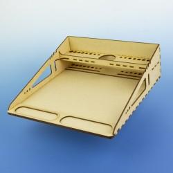Modelářské pracoviště A4 - lehké a přenosné, s přihrádkami pro základní potřeby, rychlostavebnice