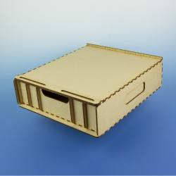 Zásuvka pod modelářské pracoviště A4, vyšší, s přihrádkami - pro uložení základních potřeb, rychlostavebnice