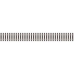 Tvarovatelná kolej, dřevěné pražce, délka 914 mm, širokopatní kolejnice výšky 3.6 mm