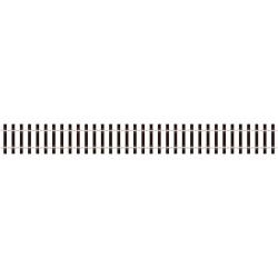 Tvarovatelná kolej, dřevěné pražce, stoličkové kolejnice výšky 3.15 mm, délka 914 mm
