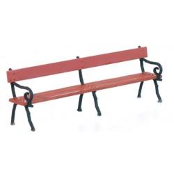 Nádražní lavička litinová, provedení MR/NER, 4 ks, plastiková stavebnice
