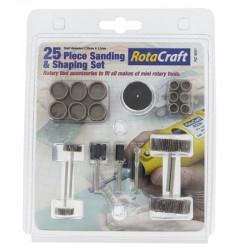 Sada 25 rotačních nástrojů pro broušení