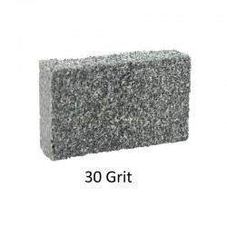Brusný pryžový kvádřík střední, hrubost 120, rozměry 80x50x20 mm