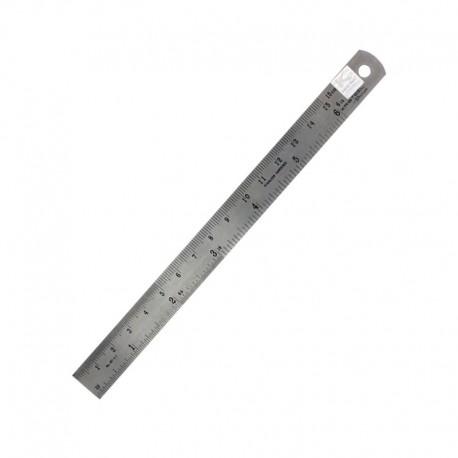 Ocelové měřítko ploché 150 mm (metrická a imperiální stupnice)