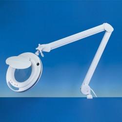 Stolní svítidlo s kruhovým zvětšovacím sklem, polohovatelné, LED s nastavitelnou teplotou bílé