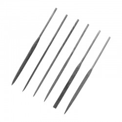 Jehlové rašple, délka cca 140 mm, sada 6 ks různého tvaru