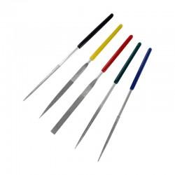 Diamantové jehlové pilníky malé, jmenovitý rozměr 2 mm, sada 5 ks
