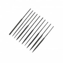 Jehlové pilníky standardní, délka cca 140 mm, zvýhodněná sada 10 ks různého tvaru