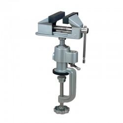 Malý stolní svěrák, šířka čelistí 75 mm, polohovatelný kulovým kloubem
