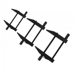 Nástrojařská svěrka rovnoběžná, celokovová šroubovací, velká  (maximální rozevření cca 65 mm, hloubka čelistí 34 mm)