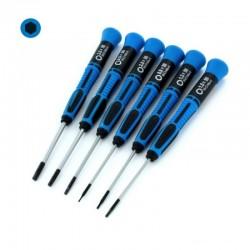 Šroubováky šestihranné 0.9-3.0 mm, sada 6 ks (modré)