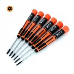 Šroubováky torx, velikost T6 až T15, sada 6 ks (oranžové)