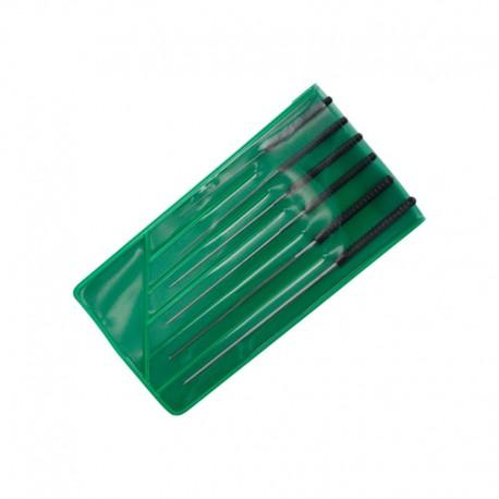 Hodinářské výstružníky pětibřité, sada 6 ks, ø0.4-ø1.4 mm