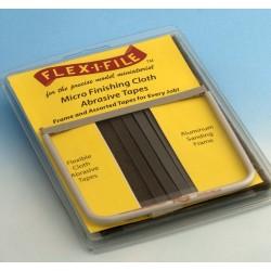 Rámové brousítko Flex-i-file - leštící sada s jedním brousítkem a 9 plátěnými leštícími páskami