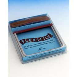 Sada tří brousítek Flex-i-file s cca 16 brusnými páskami