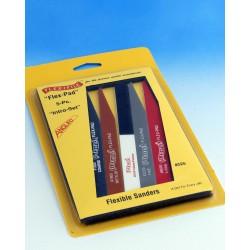 Sada brusných pilníků Flex-pad - obsahuje všech pět pilníků (včetně leštícího Triple-grit)