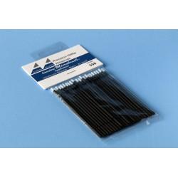 Štětečky Microbrush normální (černé), 25 ks