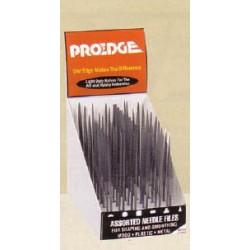 Prodejní stojan obsahující 6 druhů jehlových pilníků, celkem 60 ks