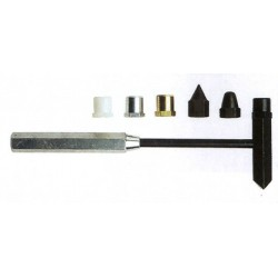 Kladivo pro zvláštní účely s výměnným nosem (různé nástavce - 7 možností lišících se tvarem nebo materiálem)