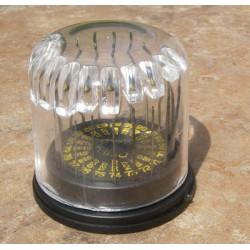 Sada 20 vrtáků o0.35-o1 mm v kruhovém stojánku s průhledným plastovým krytem, každý vrták má jiný průměr