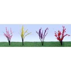 kvetoucí roští, výška 2.5 - 4 cm, čtyři barvy květů, celkem 48 ks