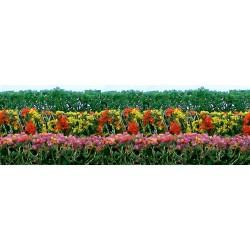 živý plot, výška 1.5 cm, délka 12cm, sada obsahuje zelené i kvetoucí živé ploty, celkem 8 kusů