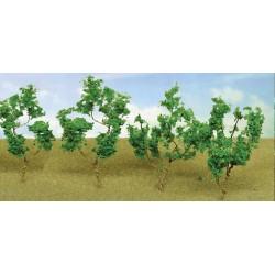 větve, křoví, podrost - zeleň světlá, výška 4 - 8 cm, 60 ks