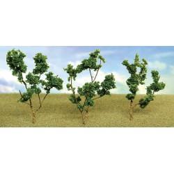 větve, křoví, podrost - zeleň střední, výška 4 - 8 cm, 60 ks