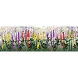 lupiny (vlčí bob), výška 20 mm, čtyři barvy, celkem 8 ks