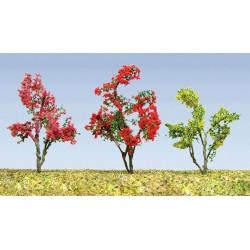 kvetoucí keře, výška 2 - 2.5 cm, různé barvy květů, celkem 36 ks