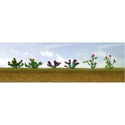 květiny vzor 1, výška cca 1 cm, čtyři barvy květů, celkem 12 ks
