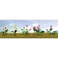 květiny vzor 3, výška cca 1 cm, čtyři barvy květů, celkem 12 ks