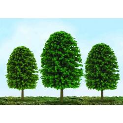 listnatý strom s oválnou korunou úsporný, výška 2.5 - 5 cm, 55 ks